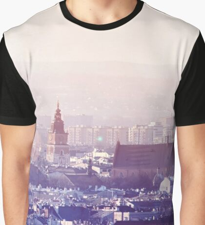Panoramic view of Old City in Cracow at the sunset Graphic T-Shirt