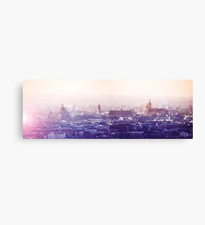 Panoramic view of Old City in Cracow at the sunset Canvas Print