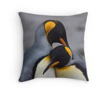 I Wuv You! (King Penguins, South Georgia) Throw Pillow