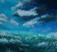Il cielo sopra il mare - The sky over the sea by Kitsune Arts
