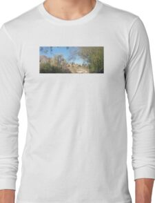 TRANQUIL SCENE TO SNOW CAP MOUNTAINS Long Sleeve T-Shirt