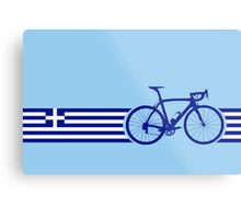 Bike Stripes Greece Metal Print