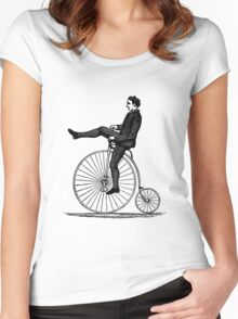 Vintage Cyclist Women's Fitted Scoop T-Shirt