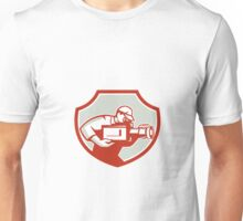 Cameraman Film Crew Camera Shield Retro Unisex T-Shirt
