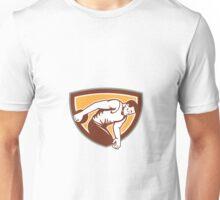 Discus Thrower Shield Retro Unisex T-Shirt