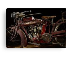 1915 Indian Hedstrom Engine Canvas Print