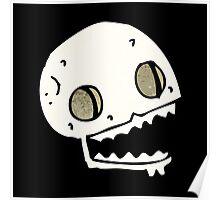 cartoon skull Poster