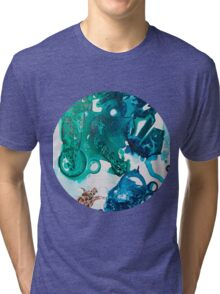 Turtle Exploring the Great Deep Blue Sea Tri-blend T-Shirt