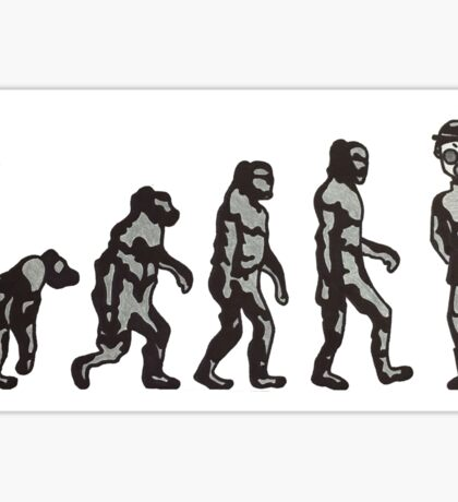 Evolution of Mankind Sticker
