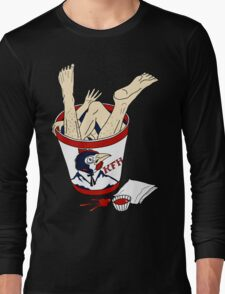 Kentucky Fried Human bucket Long Sleeve T-Shirt