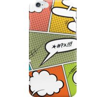 Comic Speech Bubbles iPhone Case/Skin