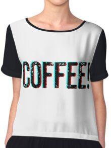 Coffee! Chiffon Top