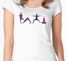 Yoga Splatter Women's Fitted Scoop T-Shirt