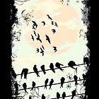 Birds on Wires by tinaodarby
