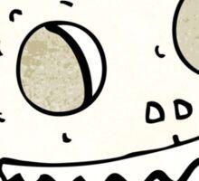 grinning skull cartoon Sticker