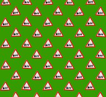 UK Warning sign Christmas ahead wallpaper by funkyworm