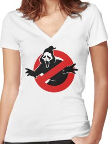 Screambusters Women's Fitted V-Neck T-Shirt