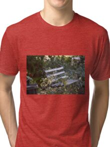 Peaceful seat. Tri-blend T-Shirt