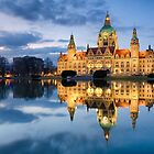 City Hall of Hannover in the evening by Michael Abid