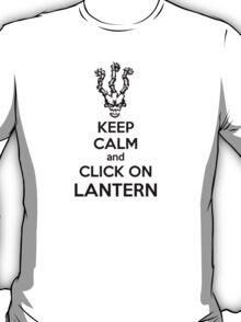 Thresh - League of Legends - Keep Calm and Click On Lantern - Black T-Shirt