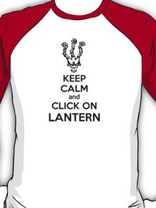 Thresh - League of Legends - Keep Calm and Click On Lantern - Black T-Shirt
