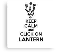 Thresh - League of Legends - Keep Calm and Click On Lantern - Black Canvas Print