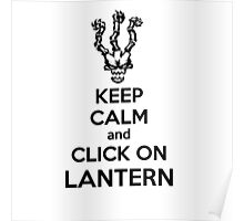 Thresh - League of Legends - Keep Calm and Click On Lantern - Black Poster