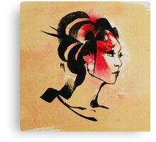 Japanese Geisha Girl Canvas Print