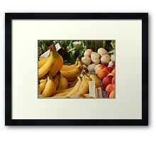 Fruits and vegetables of my sunday market Framed Print