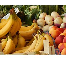 Fruits and vegetables of my sunday market Photographic Print