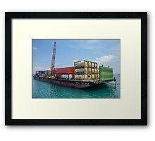 Díli Barge Framed Print