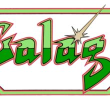 Galaga logo Sticker