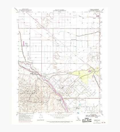 USGS TOPO Map California CA Tupman 301001 1954 24000 geo Photographic Print