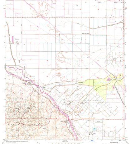 USGS TOPO Map California CA Tupman 301001 1954 24000 geo Sticker
