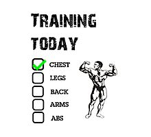 The only training schedule! Photographic Print