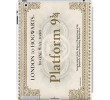 ticket to hogwarts iPad Case/Skin