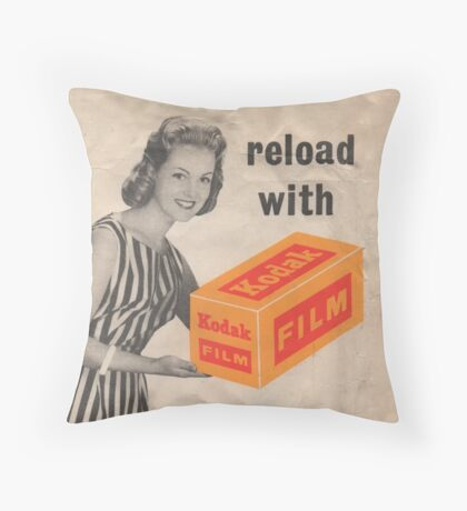 Reload with Kodak Throw Pillow