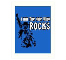 Breaking Bad 'I am the one who knocks' parody Art Print