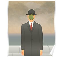 """Apple"" – Magritte inspired design Poster"