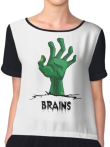 Zombie hand wants brains Chiffon Top
