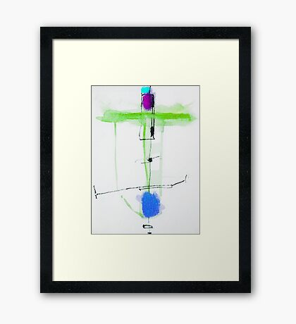 Giro Charger Blue Framed Print