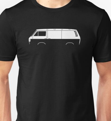 Car Silhouette - for VW Transporter T3 panel van / vanagon Unisex T-Shirt