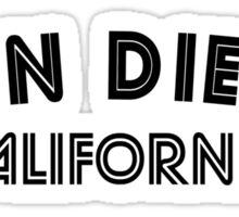 San Diego California Sticker
