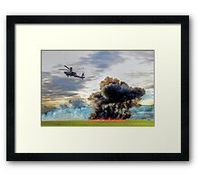 Apache Role Demo HDR - Dunsfold Wings and Wheels 2014  Framed Print