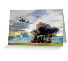 Apache Role Demo HDR - Dunsfold Wings and Wheels 2014  Greeting Card