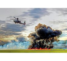 Apache Role Demo HDR - Dunsfold Wings and Wheels 2014  Photographic Print
