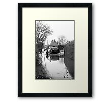 Floating Car Rescue Burrowbridge Framed Print