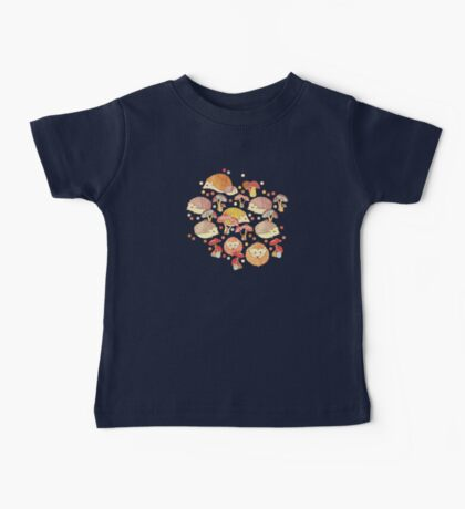 Woodland Hedgehogs - a pattern in soft neutrals  Baby Tee