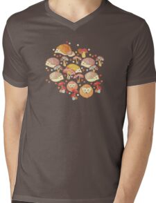 Woodland Hedgehogs - a pattern in soft neutrals  Mens V-Neck T-Shirt
