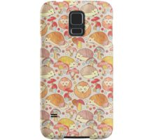 Woodland Hedgehogs - a pattern in soft neutrals  Samsung Galaxy Case/Skin